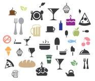 Вектор значков еды Стоковые Фотографии RF