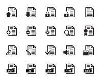 Вектор значков документов Бесплатная Иллюстрация