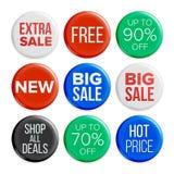 Вектор значков продажи Бирки пузыря скидки Иллюстрация рекламы продукта изолированная бесплатная иллюстрация