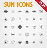 Вектор значков Солнця бесплатная иллюстрация