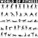 Вектор значков фитнеса Стоковое Изображение