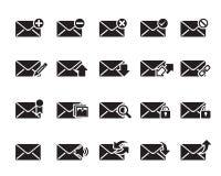 Вектор значков электронной почты Иллюстрация штока