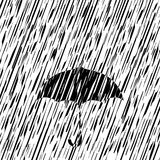 вектор зонтика дождя иллюстрации Стоковые Фото