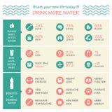 Вектор здоровья infographic Стоковое Изображение