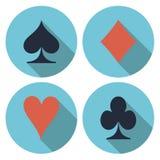 Вектор играя карточки плоский Стоковые Изображения