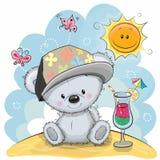 вектор игрушечного иллюстрации медведя пляжа иллюстрация вектора