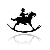 вектор игрушки стародедовской лошади утесистый Стоковые Фото