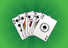 вектор игры карточек Стоковое Изображение RF