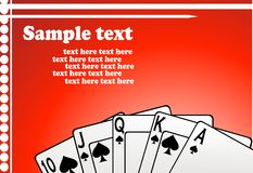 вектор игры карточек Стоковая Фотография RF
