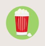вектор дизайна ведра попкорна плоский Стоковые Фото