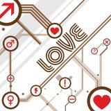 Вектор дизайна влюбленности Стоковое Изображение RF