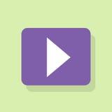 Вектор дизайна значка кнопки игры плоский Стоковое Фото
