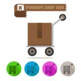 Вектор дизайна пакета перехода значка красочный на белой предпосылке Стоковое фото RF