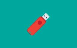 Вектор дизайна привода вспышки Usb плоский Бесплатная Иллюстрация