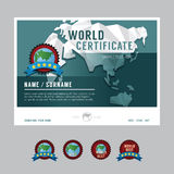 Вектор дизайна рамки предпосылки плана шаблона сертификата режим бесплатная иллюстрация