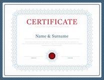 Вектор дизайна рамки предпосылки плана шаблона сертификата режим иллюстрация вектора