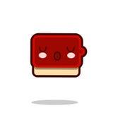 Вектор дизайна фаст-фуда kawaii значка персонажа из мультфильма соуса кетчуп плоский Стоковые Изображения RF