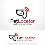 Вектор дизайна шаблона логотипа локатора любимчика, эмблема, идея проекта, творческий символ, значок иллюстрация штока