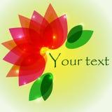 Вектор дизайна backgronds цветков Стоковое Фото