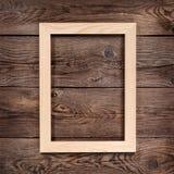 вектор изображения иллюстрации элемента конструкции Древесина рамки светлая в старой стене Стоковая Фотография RF