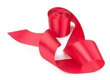 вектор изображения иллюстрации элемента конструкции Красная тесемка изолированная на белизне Стоковое Изображение