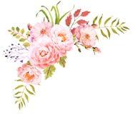 вектор изображения цветка букета яркий Декоративный состав для wedding приглашения Стоковое Фото
