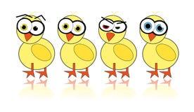 вектор изображения цыпленока проиллюстрированный пасхой Стоковая Фотография