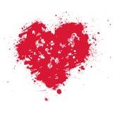 вектор изолированный сердцем Стоковое Изображение