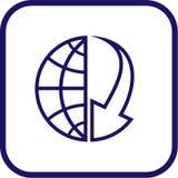 вектор иконы глобуса блока Стоковое Изображение RF