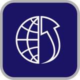 вектор иконы глобуса блока Стоковая Фотография RF