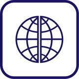 вектор иконы глобуса Стоковые Фото