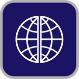 вектор иконы глобуса Стоковые Изображения