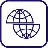вектор иконы глобуса Стоковое Фото