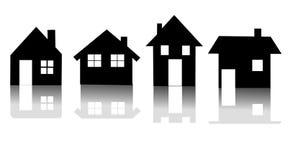вектор иконы дома установленный Стоковое Изображение