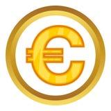 вектор иконы евро собрания большой иллюстрация вектора