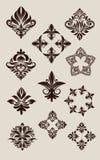 Вектор комплекта иконы декоративный Стоковое Фото