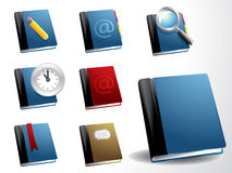 вектор иконы книги установленный иллюстрация вектора