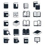 вектор иконы книги установленный Стоковые Фотографии RF