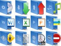 вектор иконы компьютера установленный Стоковое Изображение RF