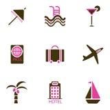 вектор иконы праздника установленный Стоковая Фотография