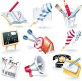 вектор иконы рекламной кампании установленный Стоковые Изображения RF
