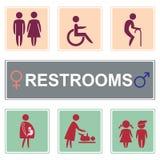 Вектор иконы туалета, значок уборных Стоковая Фотография