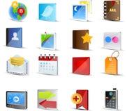 вектор иконы установленный средствами социальный Стоковые Фото