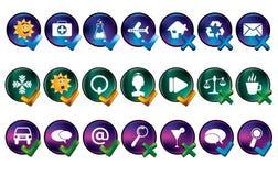вектор иконы установленный Стоковые Изображения