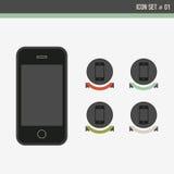 вектор иконы установленный Стоковая Фотография RF