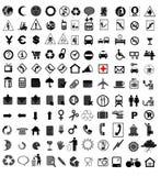 вектор иконы установленный Стоковые Фото