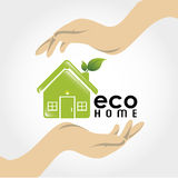 вектор иконы eco домашний Стоковая Фотография