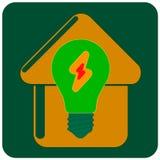 вектор иконы eco домашний Стоковое Изображение