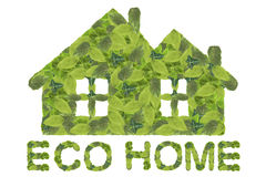 вектор иконы eco домашний Стоковое фото RF