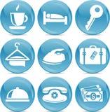 вектор икон гостиницы глянцеватый Стоковая Фотография